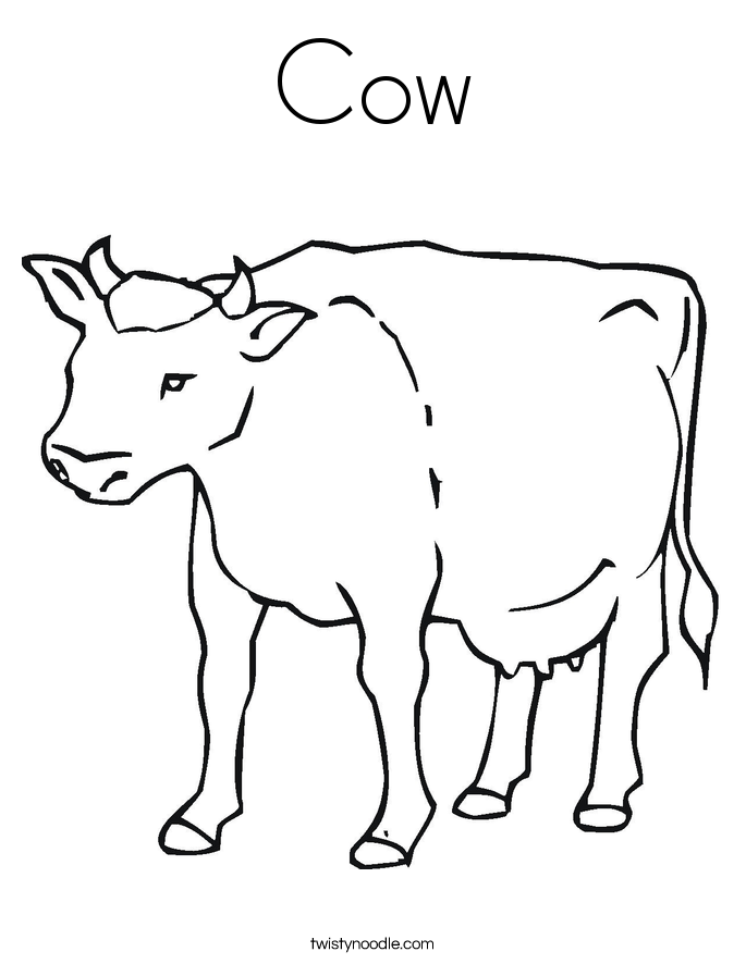 Cow coloring #14, Download drawings