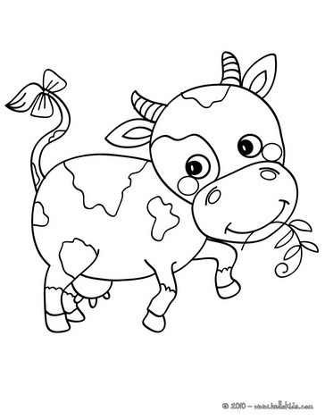 Cow coloring #11, Download drawings