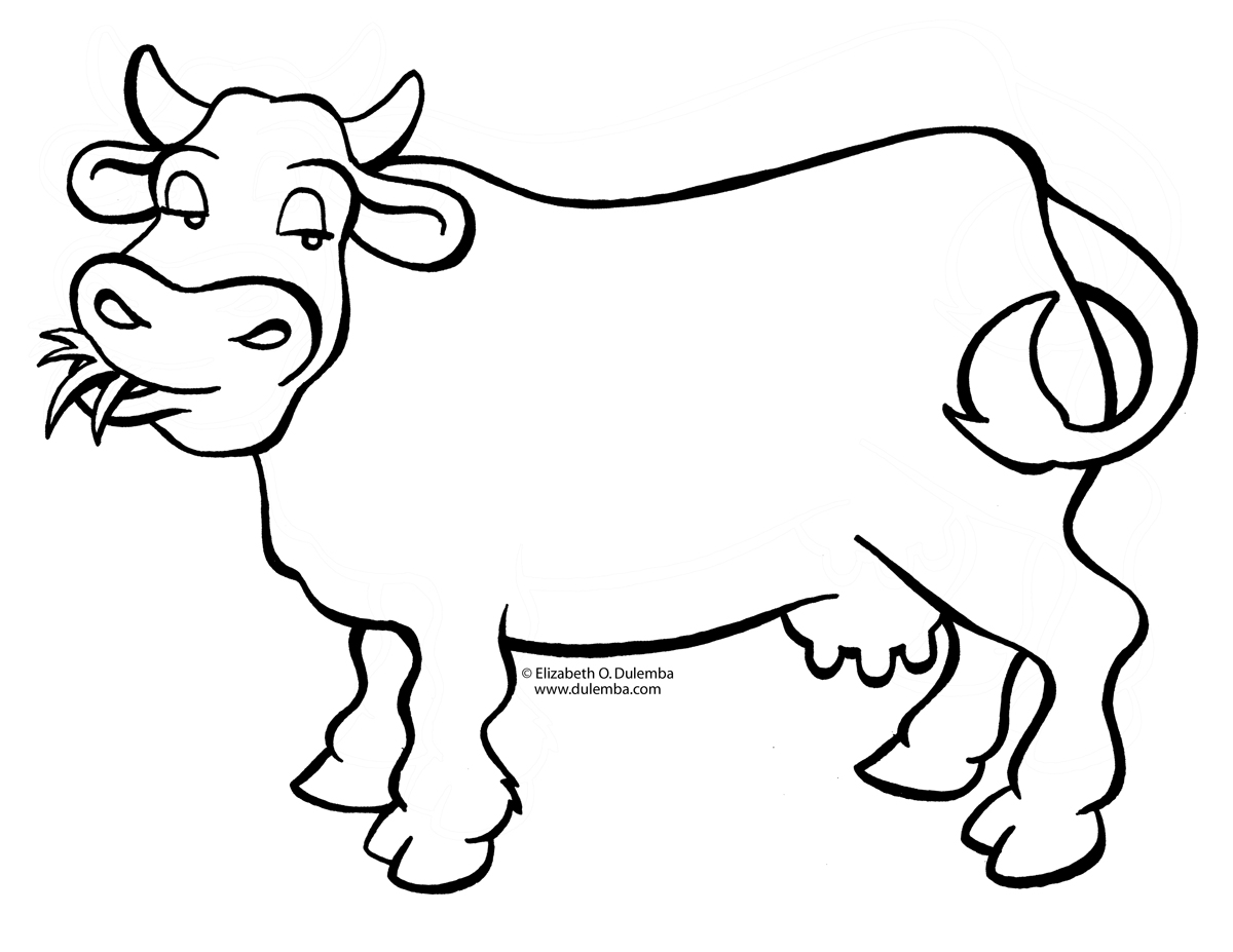 Cow coloring #8, Download drawings
