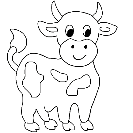 Cow coloring #2, Download drawings