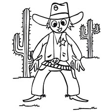 Cowboy coloring #5, Download drawings