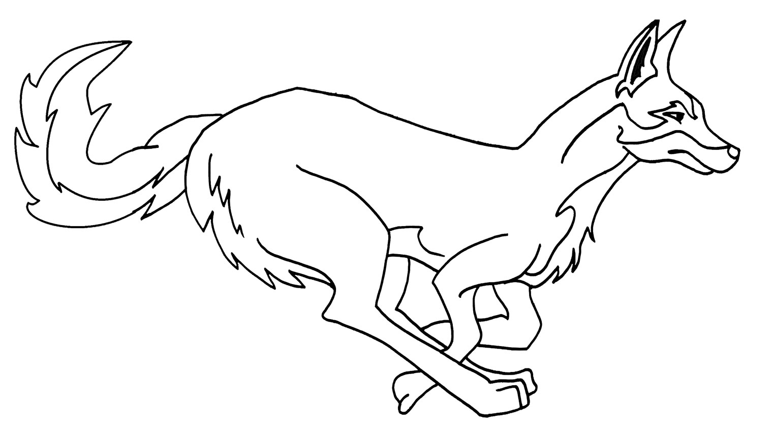 Coyote coloring #9, Download drawings