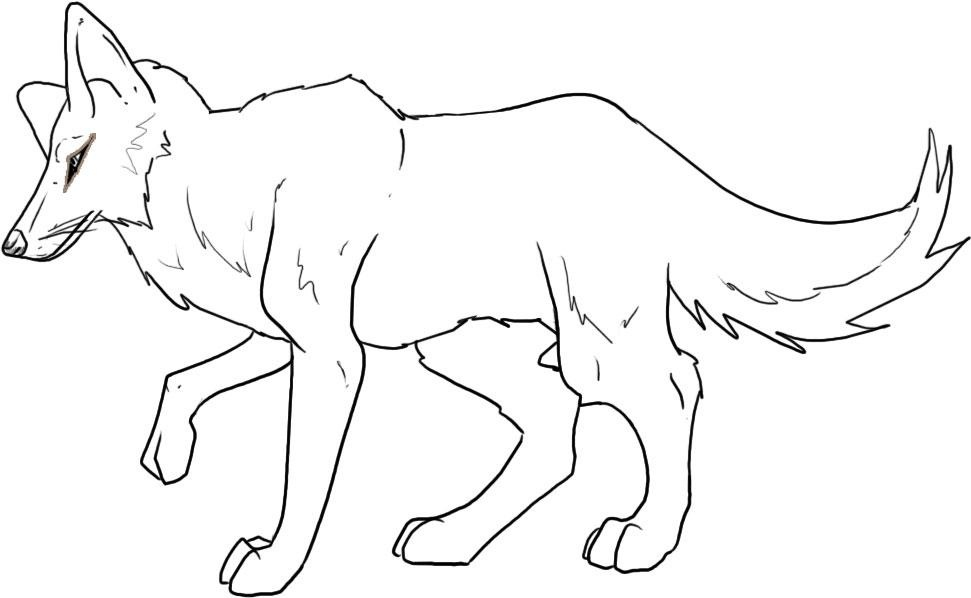 Coyote coloring #18, Download drawings