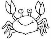 Crab coloring #16, Download drawings