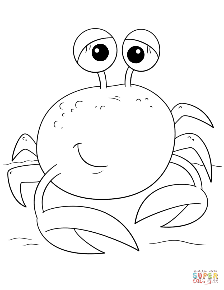 Crab coloring #19, Download drawings