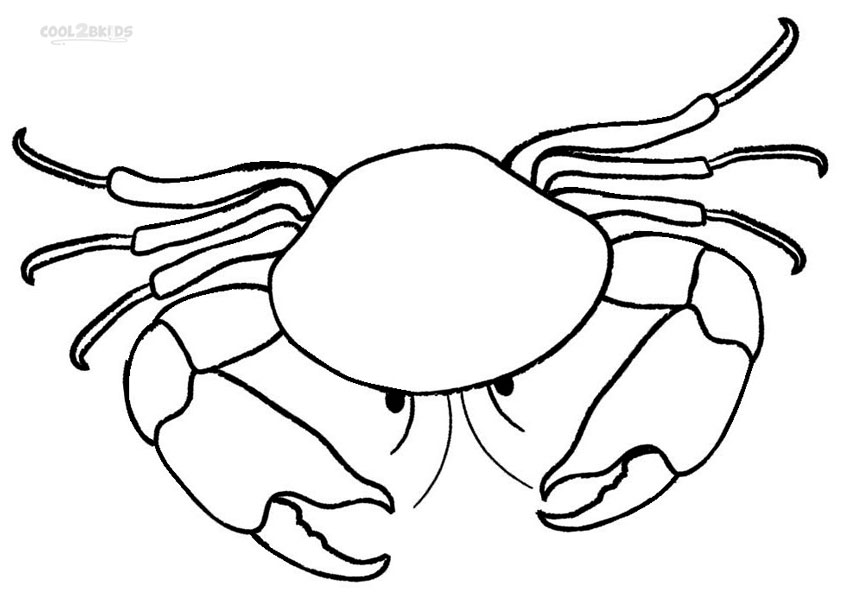 Crab coloring #11, Download drawings