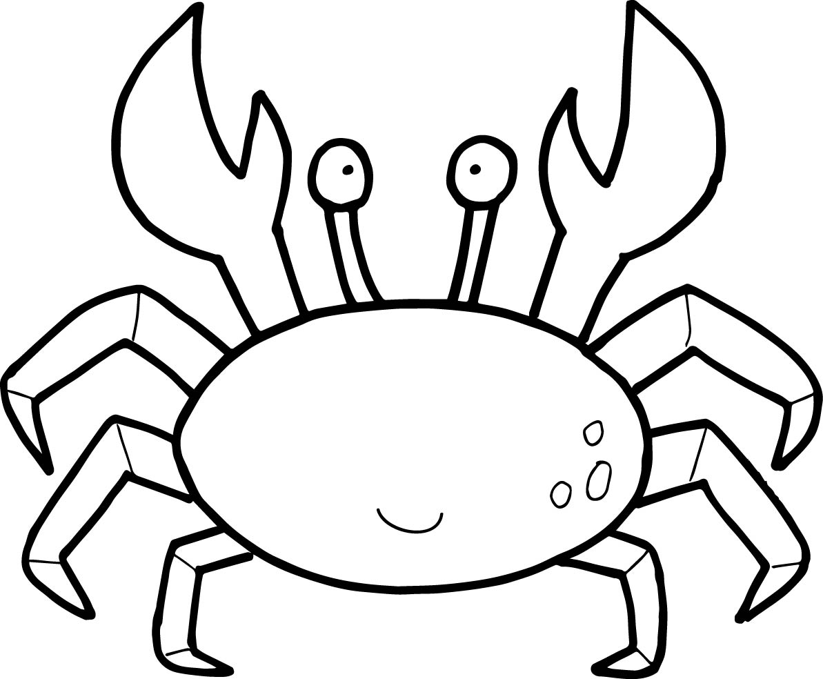 Crab coloring #3, Download drawings