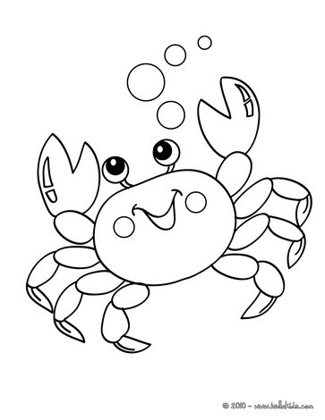 Crab coloring #9, Download drawings