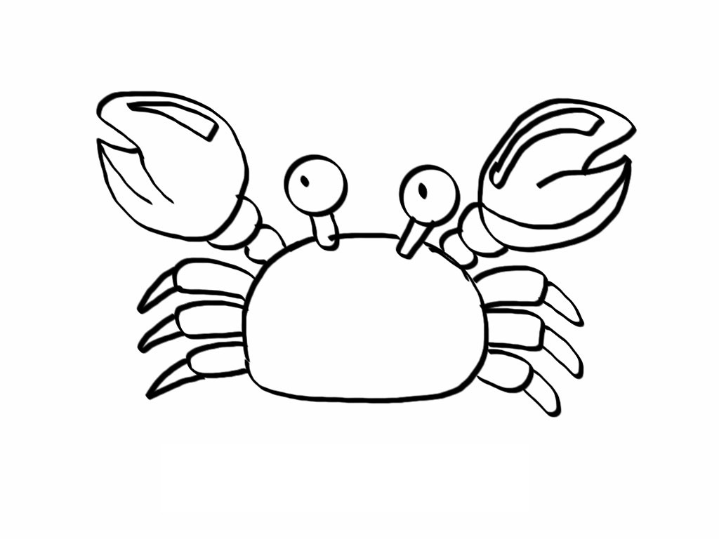 Crab coloring #20, Download drawings