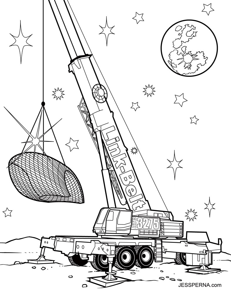 Crane coloring #8, Download drawings