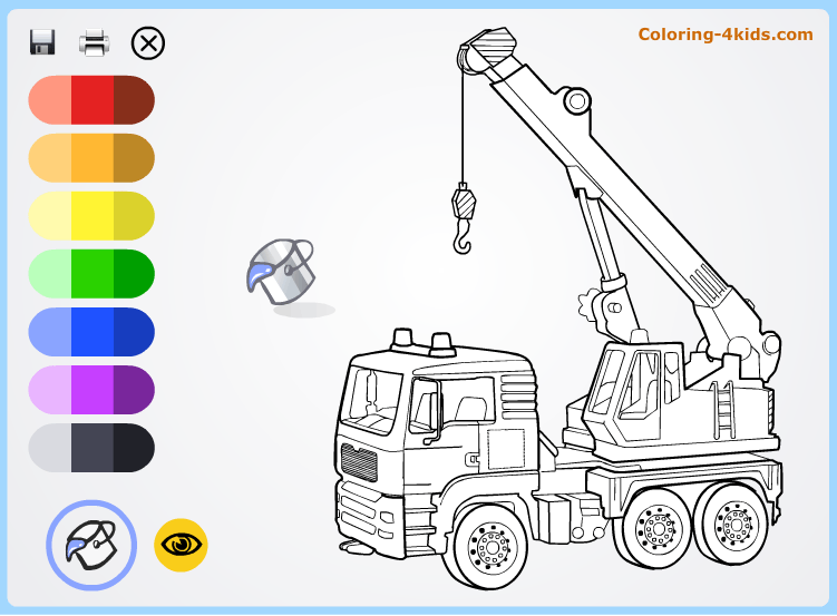 Crane coloring #9, Download drawings