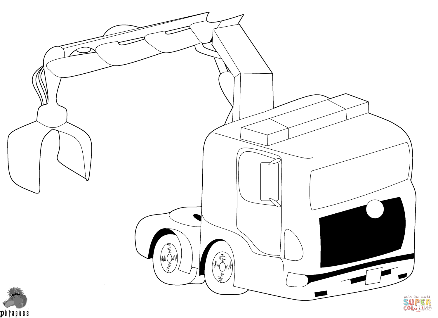 Crane coloring #7, Download drawings