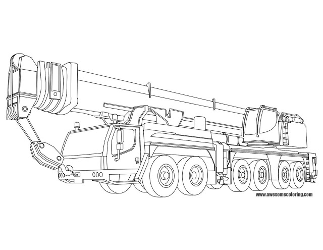 Crane coloring #17, Download drawings
