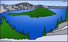 Crater Lake clipart #19, Download drawings
