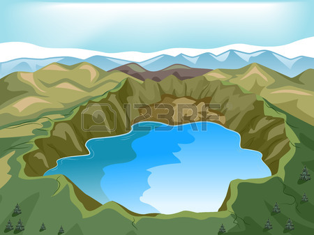 Crater Lake clipart #4, Download drawings