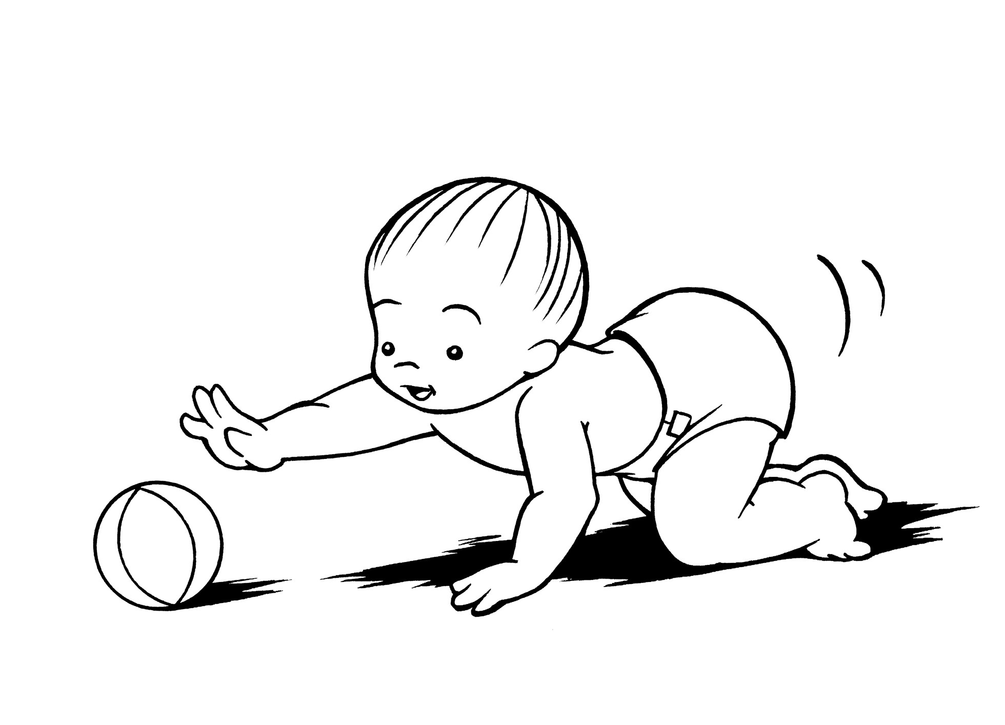 Crawling coloring #14, Download drawings
