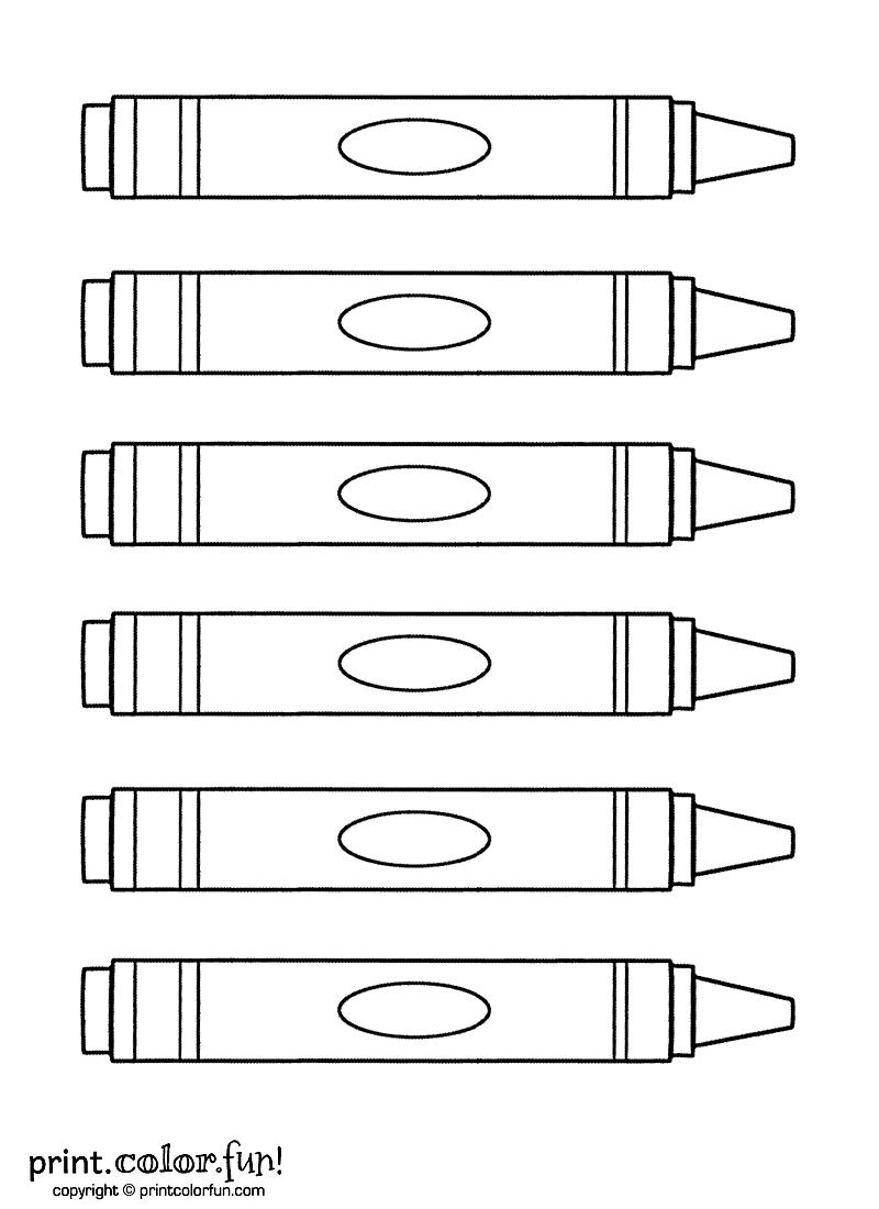 Crayon coloring #16, Download drawings