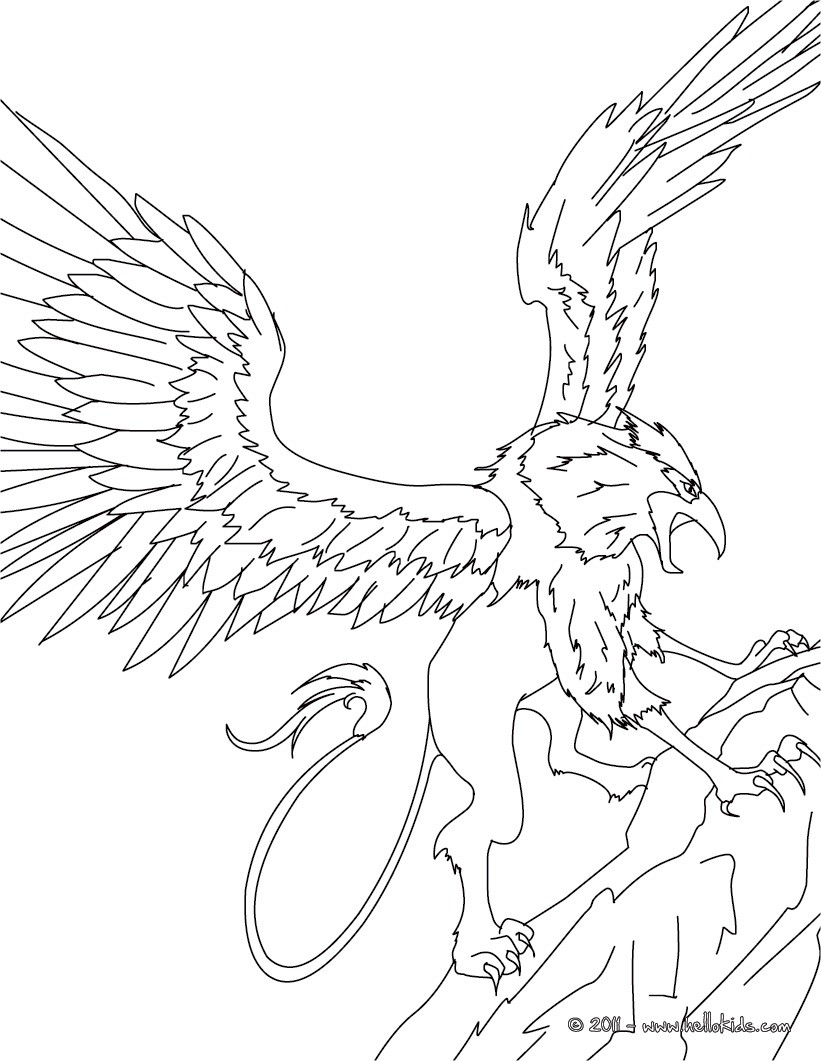 Griffin coloring #20, Download drawings