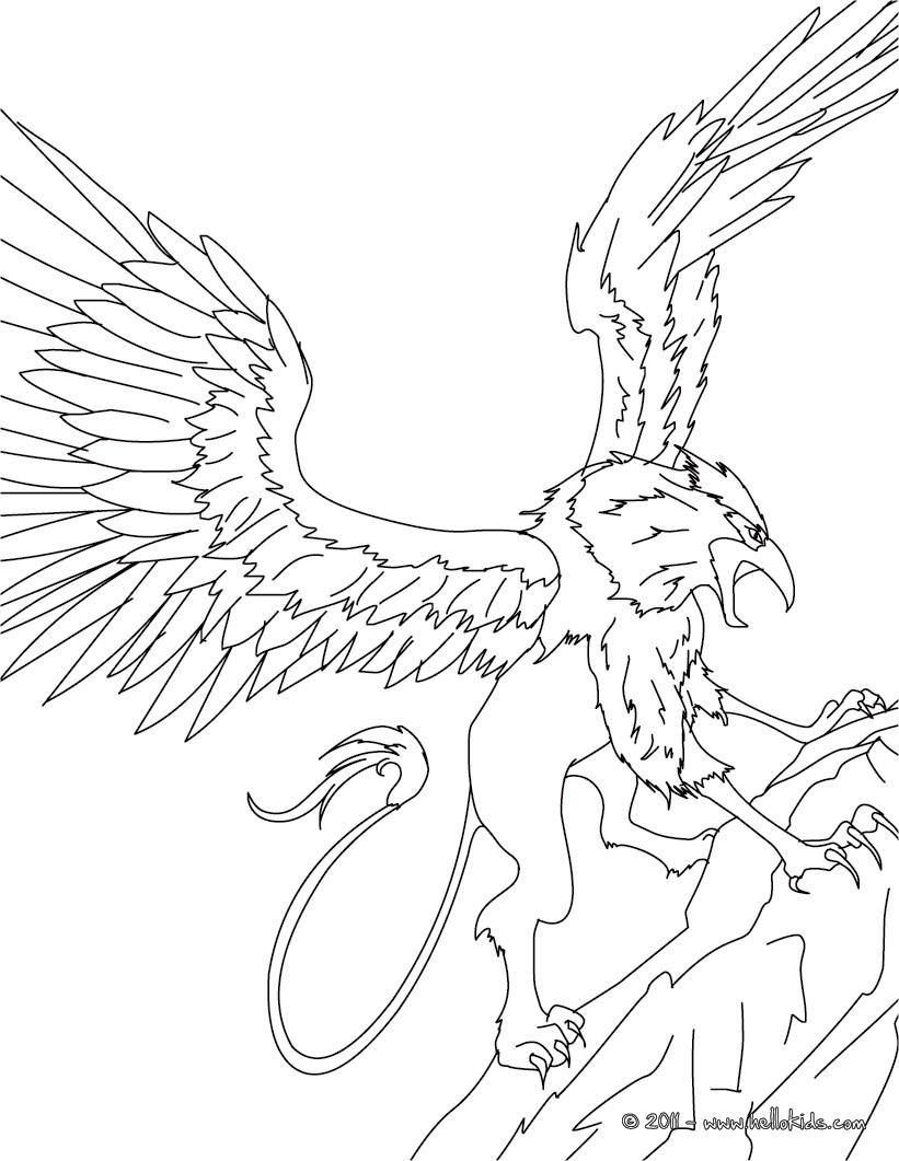 Creature coloring #4, Download drawings
