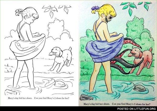 Creepy coloring #17, Download drawings