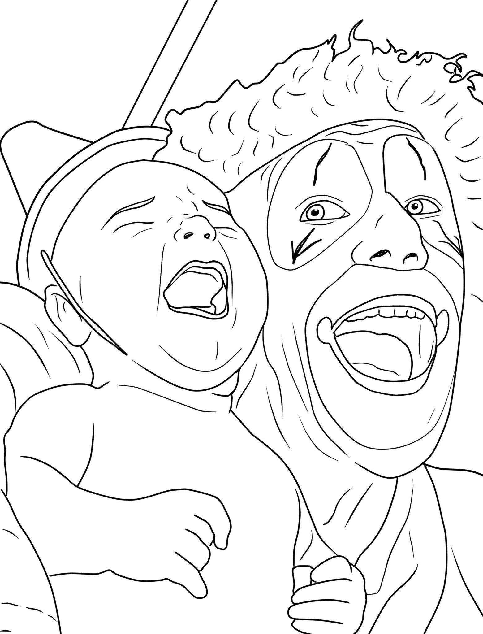 Creepy coloring #15, Download drawings
