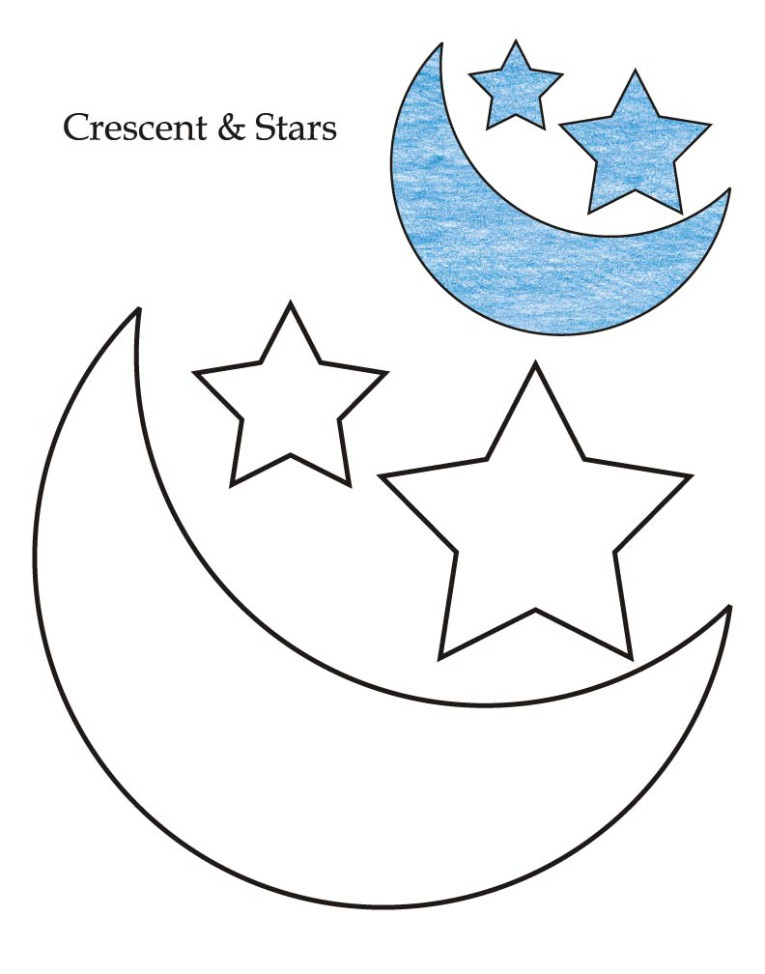 printable cresent shapes coloring pages - photo#15