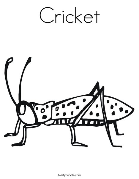 Cricket coloring #20, Download drawings