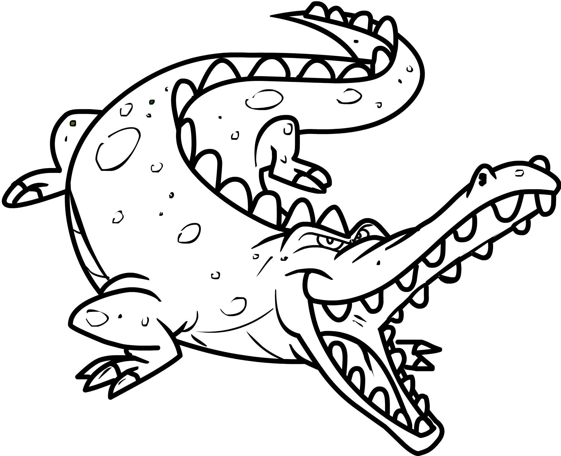 Crocodile coloring #2, Download drawings