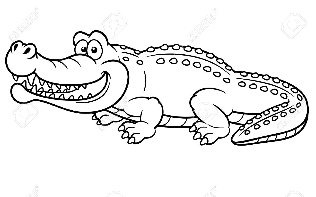 Crocodile coloring #8, Download drawings