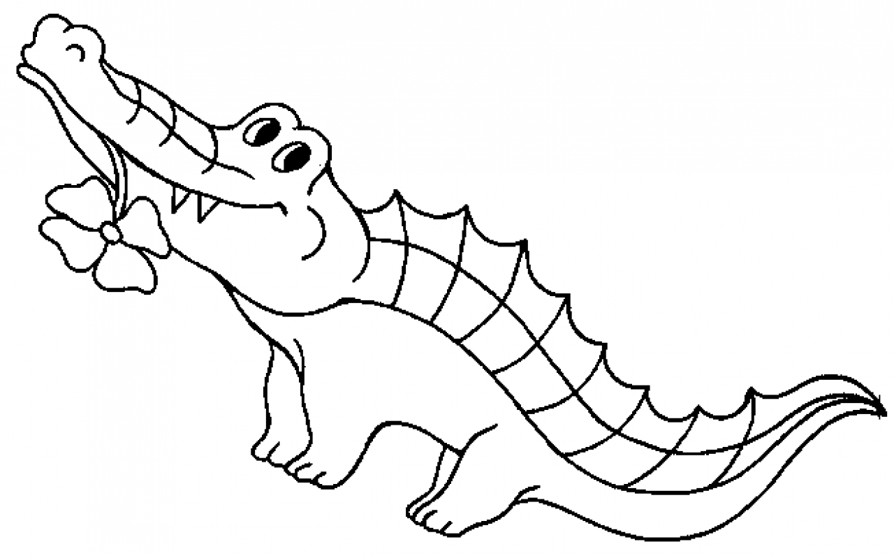 Crocodile coloring #3, Download drawings