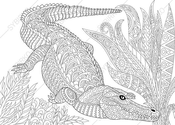 Crocodile Monitor coloring #1, Download drawings