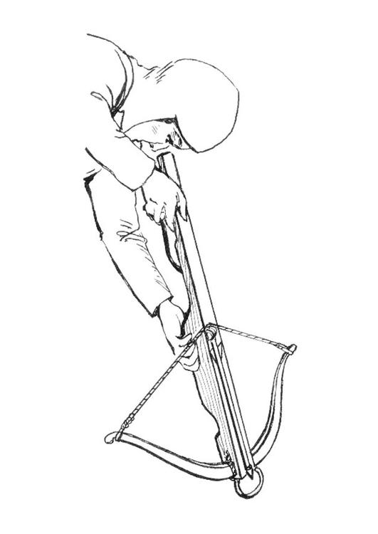 Crossbow coloring #7, Download drawings