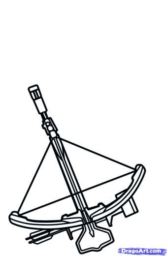 Crossbow coloring #15, Download drawings