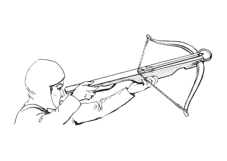 Crossbow coloring #10, Download drawings