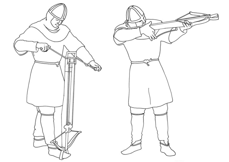 Crossbow coloring #5, Download drawings