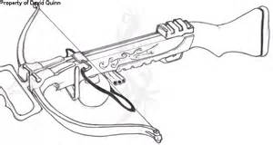 Crossbow coloring #1, Download drawings
