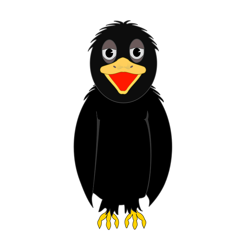 Crow clipart #6, Download drawings