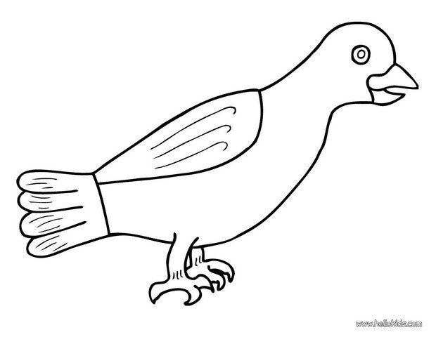 Crow coloring #2, Download drawings