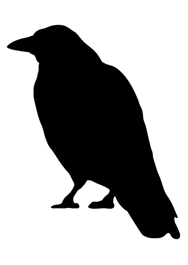 Crow coloring #13, Download drawings