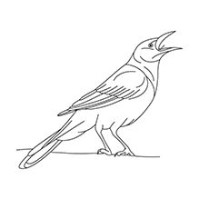 Crow coloring #11, Download drawings
