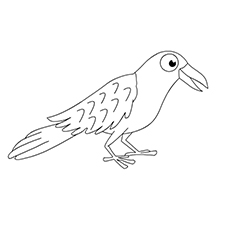 Crow coloring #9, Download drawings