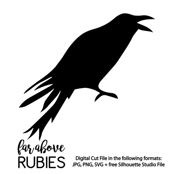 Crow svg #5, Download drawings