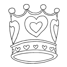 Crown coloring #6, Download drawings