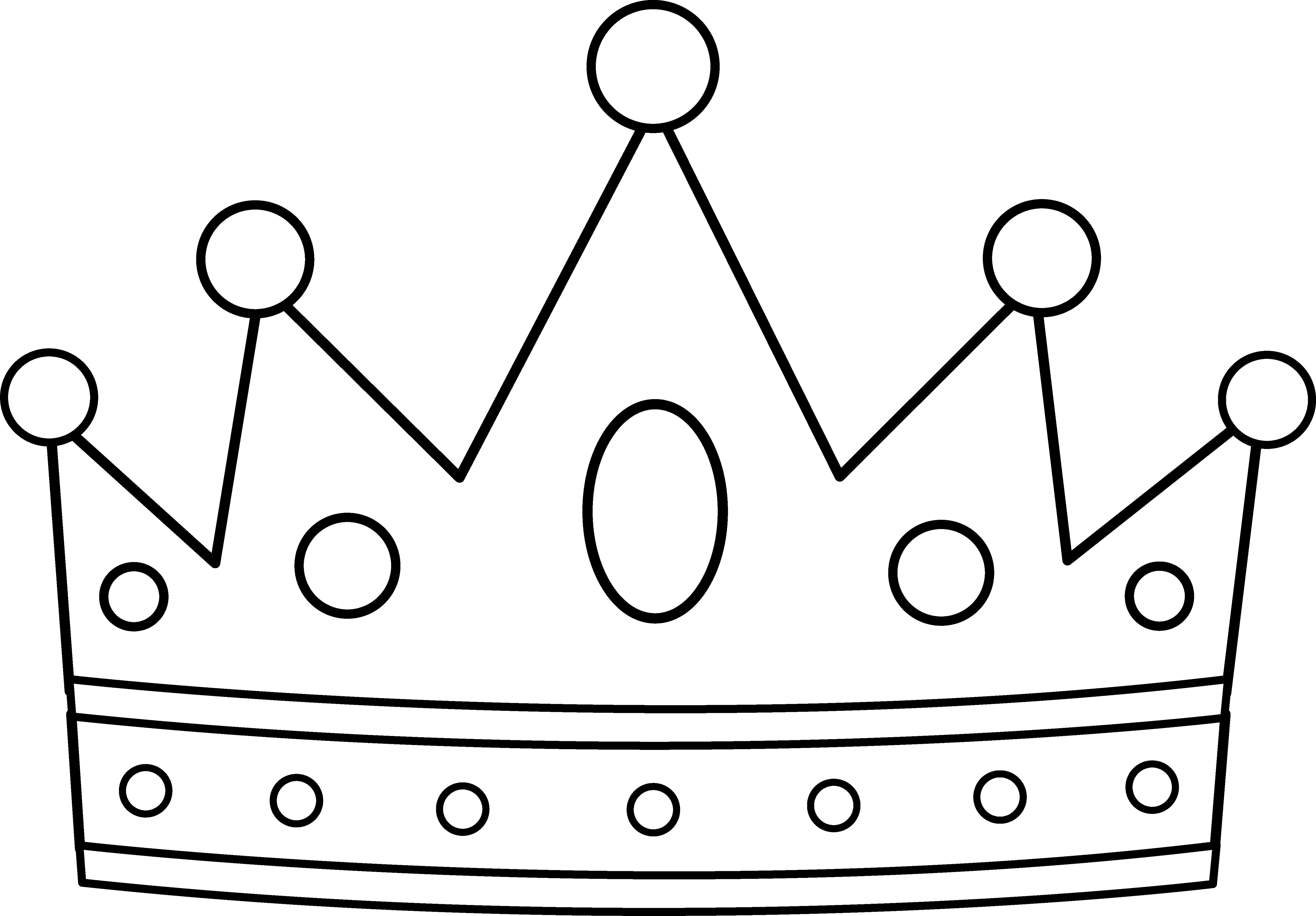 Crown coloring #7, Download drawings