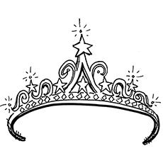 Crown coloring #19, Download drawings