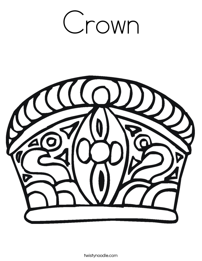 Crown coloring #11, Download drawings