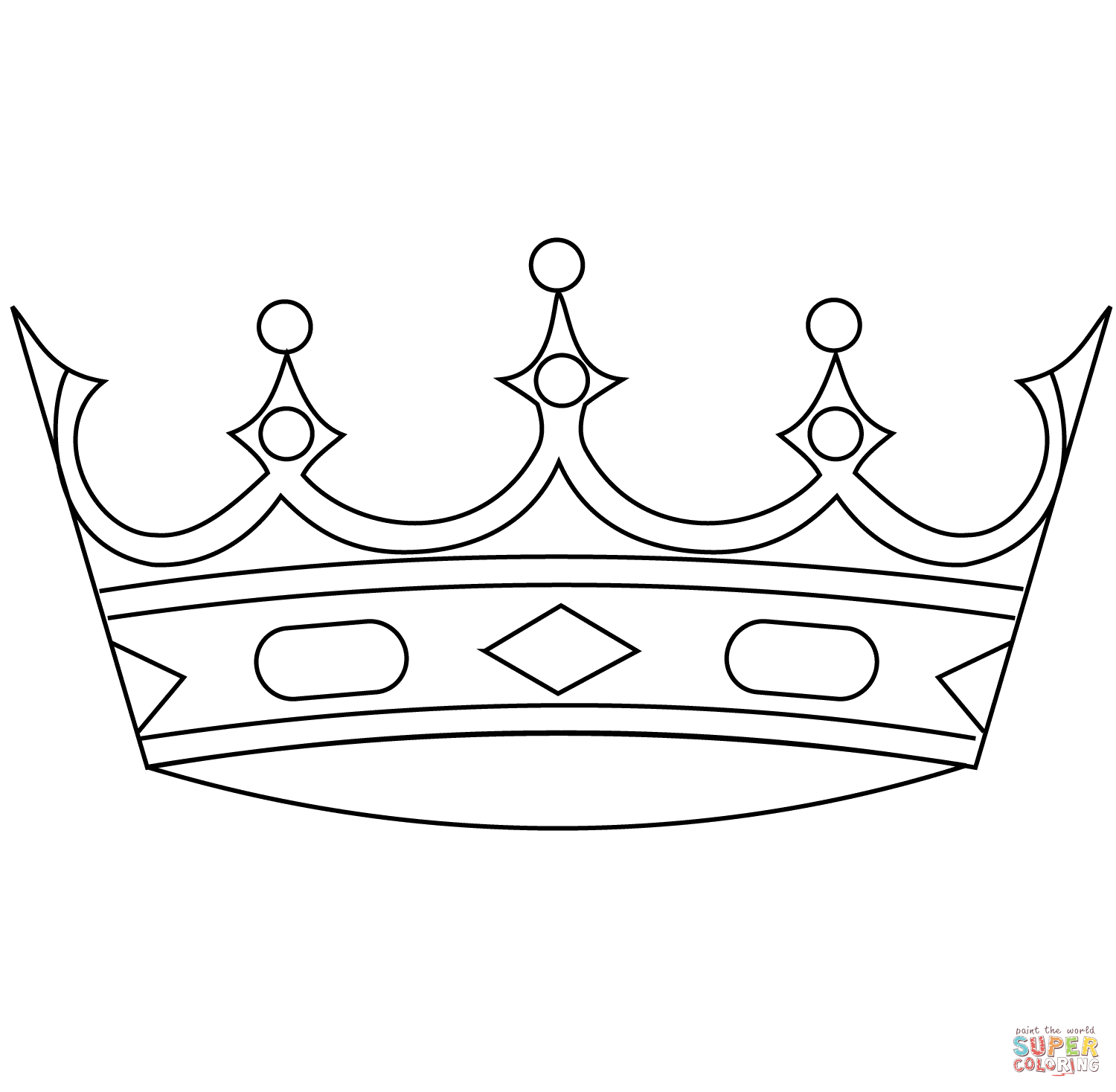 Crown coloring #2, Download drawings