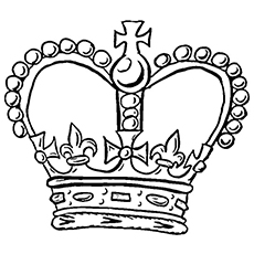 Crown coloring #1, Download drawings