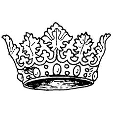 Crown coloring #17, Download drawings