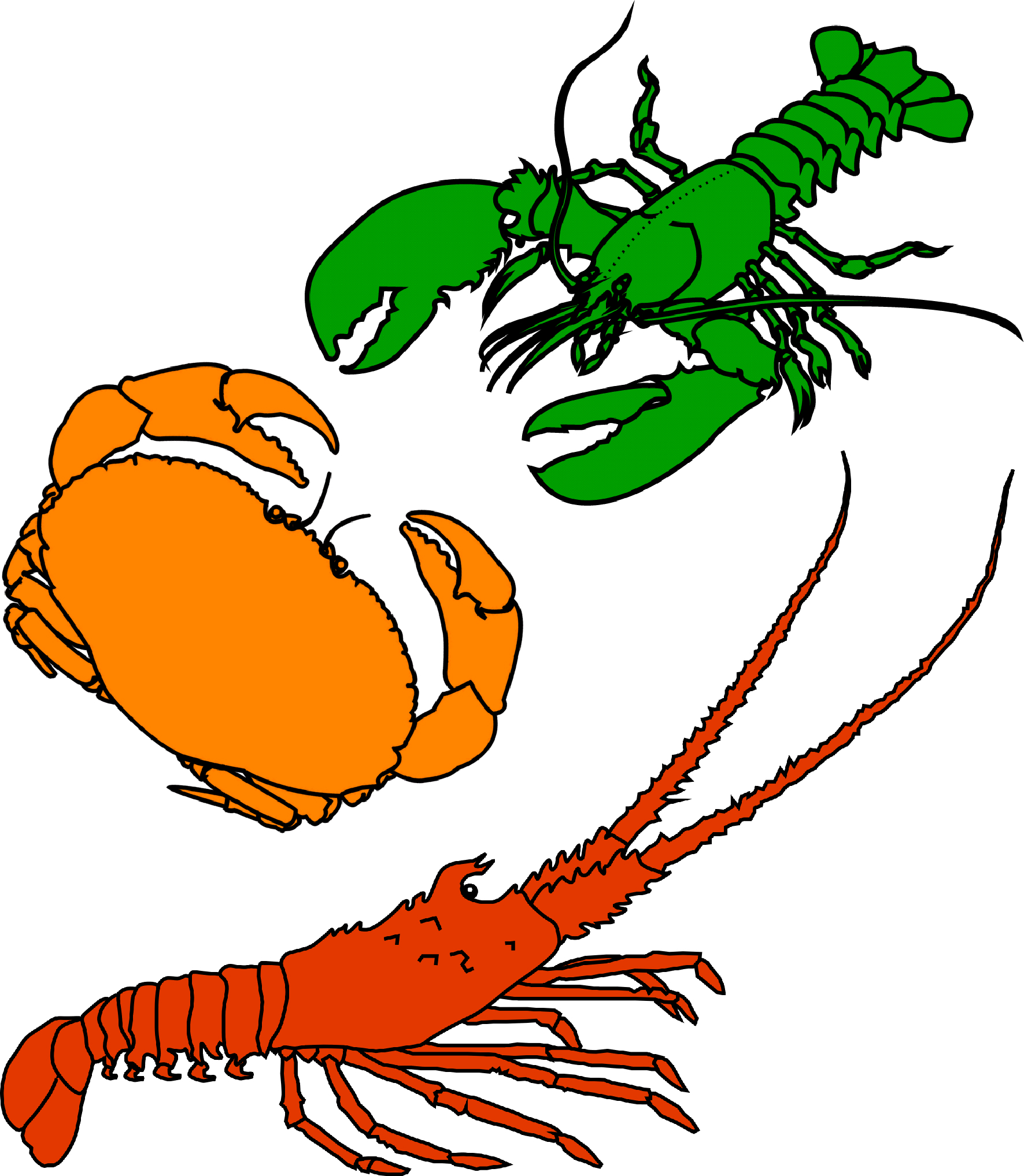 Crustacean clipart #2, Download drawings
